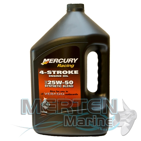 Mercury Racing 4 Stroke Synthetic Blend Oil 25w50 1