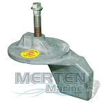 Trim Tab Anode| Magnesium | 822777A2 | Mercury Outboard & MerCruiser