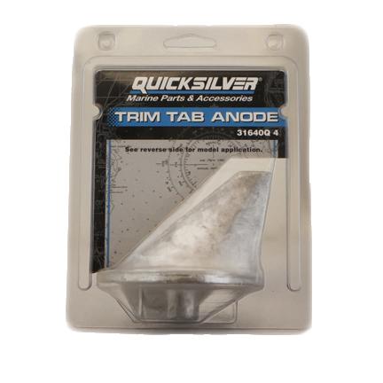 Anode trim tab 31640q4 for Outboard motor trim tab