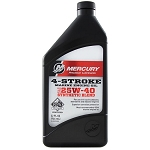 Mercury 4-Stroke Marine Oil 25w-40 Synthetic Blend Quart