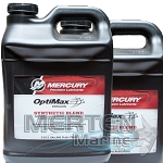 Mercury OptiMax DFI 2-Stroke Outboard Synthetic Blend Oil | CASE incl. (2) 2.5-Gallons | 858038K01