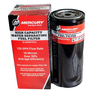 Mercury Water Separating Fuel Filter High Capacity 8M0079963