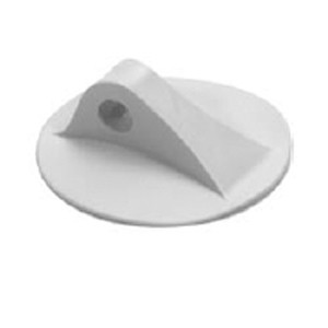 "D-Ring Molded for PVC boats - Lt. Gray color - 4"" (102mm)"