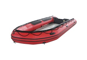Heavy Duty 470 Inflatable Boat Pvc Red Fabric