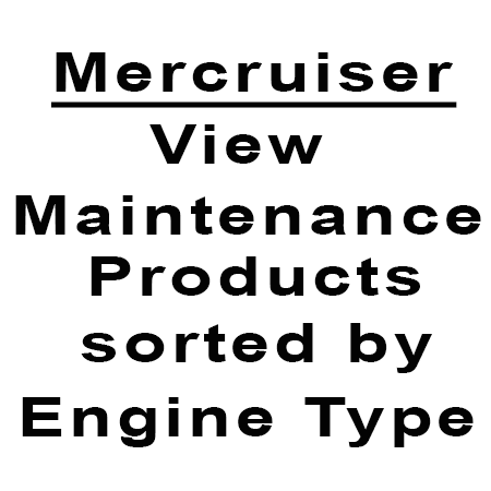 Mercruiser Maintenance listed by engine type