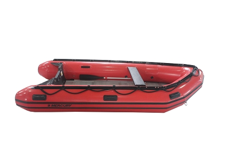 Heavy Duty 380 Inflatable Boat Hp Red Fabric