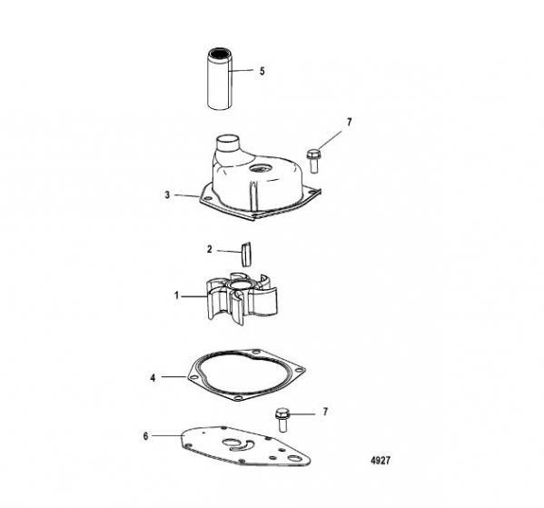 impeller water pump mercury mercruiser 19453t rh mertenmarine com  mercury impeller install