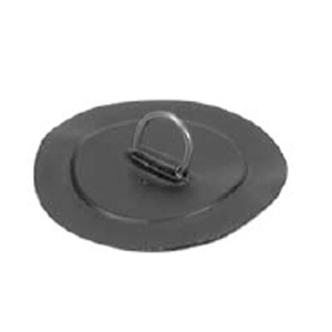 D-Ring Stainless Steel for PVC boats - Black color - Small