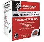 75/90/115 HP EFI (1.7L) 25W40 Marine Oil Change Kit 8M0081917