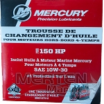150 HP 10W30 Marine Oil Change Kit 8M0107512