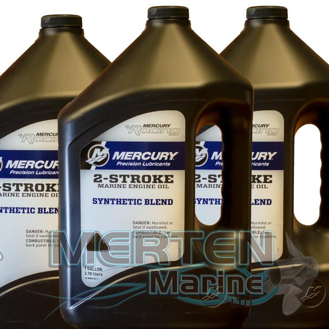Mercury 2-Stroke RACING Synthetic Blend Engine Oil | 1-Gallon | 8M0078011