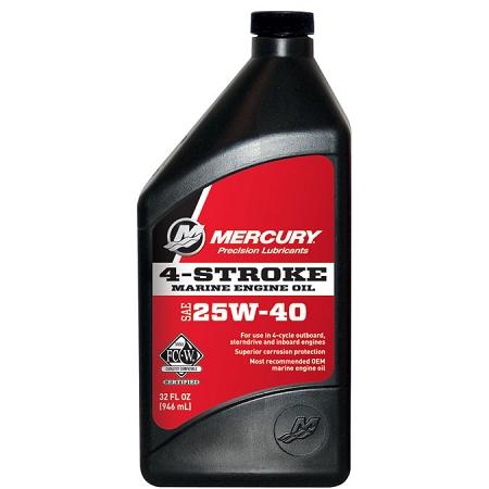 Replacement Air Compressor Pump >> Mercury 4-Stroke Marine Oil 25w-40 Conventional Quart