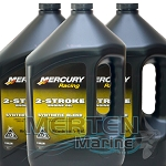 Mercury RACING Synthetic Blend 2-Stroke Engine Oil | CASE incl. (3) 1-Gallon | 8M0078011