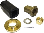 Flo-Torq II Yamaha 150-300 HP 4-Stroke and 115-250 HP VMAX SHO using OEM single piece thrust washer Hub Kit 835274Q1