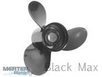 10-3/8 x 12 Pitch | Black Max Mercury Mariner Propeller | 9.9-15 BF, FS, 20-25 HP | 19639A40