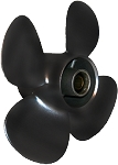10 x 7 Pitch | Black Max Mercury Propeller | Black KICKER | RIGHT-HAND | 812950A10