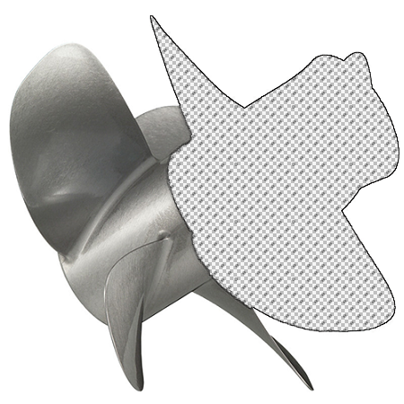 15.9 x 21 Pitch | Bravo Three Mercury Propeller | LH | MATTE Finish | 4-BL | 8M8022380