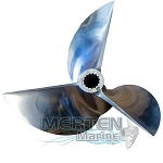 14.5 x 28 Pitch | Cleaver Mercury Racing Propeller | 135-300 HP | 3-BL | Lab Finished | LEFT-HAND | 19517L72 | Discontinued