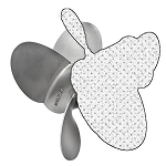 15.5 x 27 Pitch | Bravo Three Diesel Mercury Propeller | LEFT-HAND | 4-BL | 8M0074871