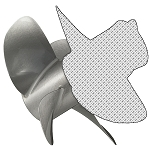 16 x 19 Pitch | Bravo Three Mercury Propeller | LH | MATTE Finish | 4-BL | 8M8022340