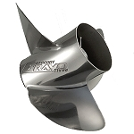 13.5 x 28 Pitch | Bravo Three Mercury Propeller | RIGHT-HAND | HIGH-POLISH | 3-BL | 8M8022479