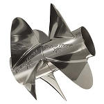24 Pitch | Bravo Three XR Pro Mercury Propeller | 4X3 Paired Set | 842941L80 & 842942L80