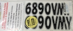 Mercury | LETTER AND NUMBER DECAL KIT | Package Quantity @1 | 67-829317
