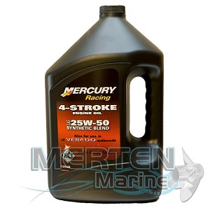 Mercury RACING 4-Stroke Synthetic Blend Oil | 25W50 | 1-Gal | 8M0078014