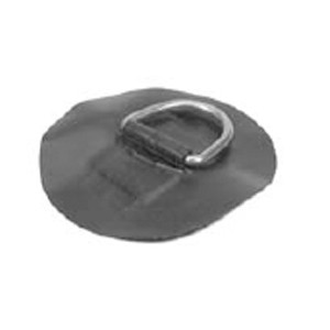 D-Ring Stainless Steel for PVC boats - Black color - Large
