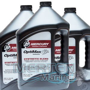 Mercury OptiMax DFI 2-Stroke Outboard Synthetic Blend Oil | CASE incl. (3) 1-Gallon | 858037K01 | SAVE MORE BY THE CASE !
