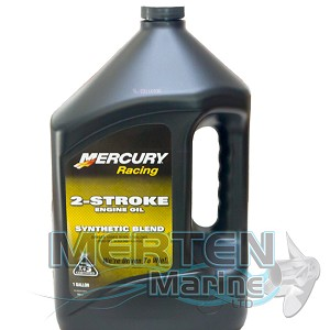 Mercury RACING Synthetic Blend 2-Stroke Engine Oil | 1-Gallon | 8M0078011
