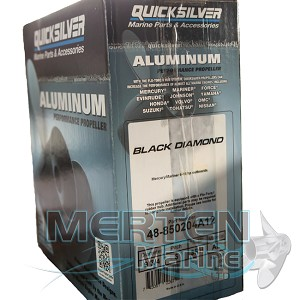 9 3/4 x 6 Pitch | Black Max Mercury Propeller | Black Diamond KICKER | RIGHT-HAND | 3-Blade | 850204A12