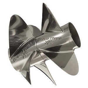 26 Pitch | Bravo Three XR Pro Mercury Propeller | 4X3 Paired Set | 842943L80 & 842944L80